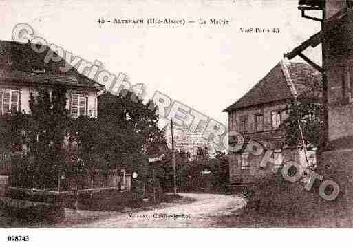 Ville de ALTENACH, carte postale ancienne