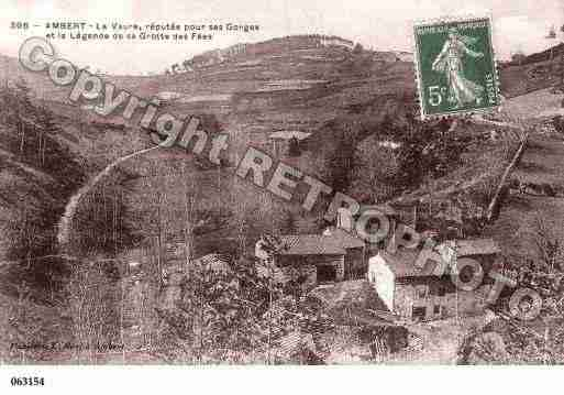 Ville de AMBERT, carte postale ancienne
