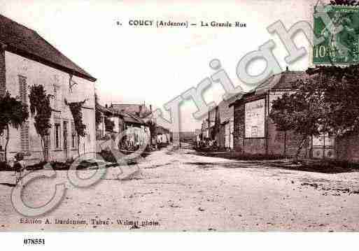 Ville de COUCY, carte postale ancienne