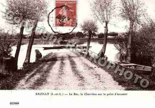 Ville de SAZILLY, carte postale ancienne