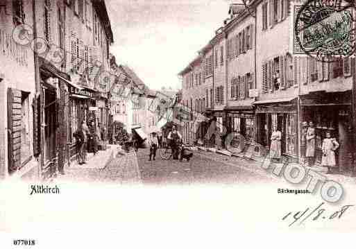 Ville de ALTKIRCH, carte postale ancienne