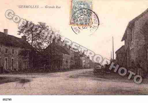 Ville de GERMOLLESMELLECEY, carte postale ancienne