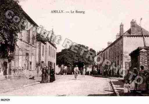Ville de AMILLY, carte postale ancienne