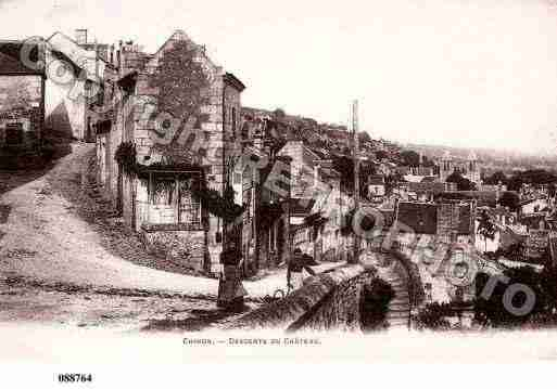 Ville de CHINON, carte postale ancienne