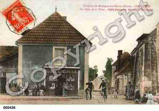 Ville de COURGEON, carte postale ancienne