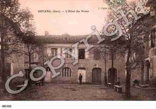 Ville de ESTANG, carte postale ancienne