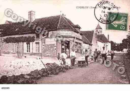 Ville de COURLONSURYONNE, carte postale ancienne