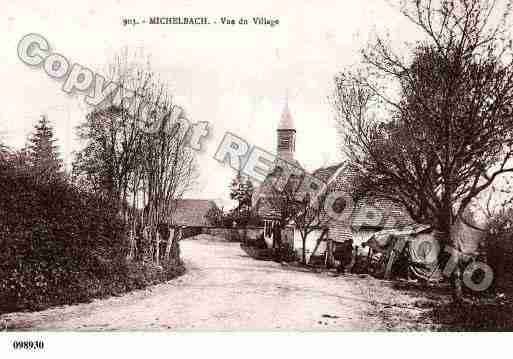 Ville de MICHELBACH, carte postale ancienne