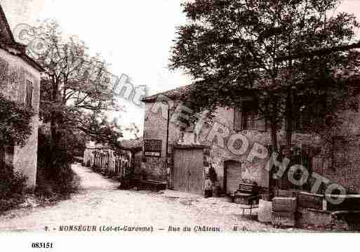 Ville de MONSEGUR, carte postale ancienne