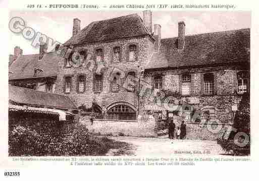 Ville de PIFFONDS, carte postale ancienne