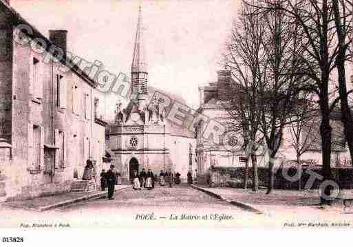 Ville de POCESURCISSE, carte postale ancienne