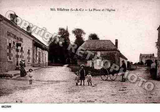 Ville de VILLETRUN, carte postale ancienne