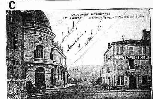 Ville de AMBERT Carte postale ancienne