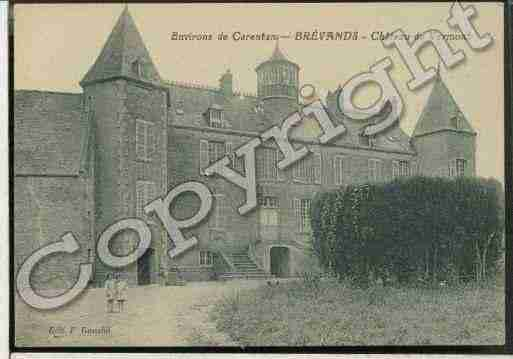 Ville de BREVANDS Carte postale ancienne