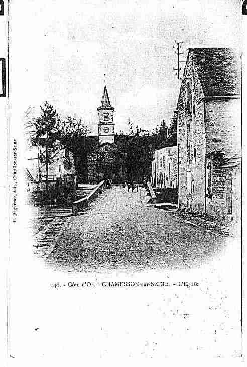 Ville de CHAMESSON Carte postale ancienne