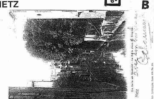 Ville de METZ Carte postale ancienne