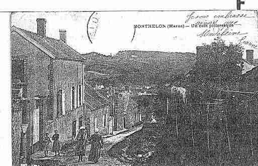 Ville de MONTHELON Carte postale ancienne