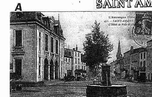 Ville de SAINTAMANTTALLENDE Carte postale ancienne
