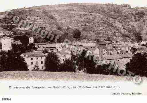 Ville de SAINTCIRQUES Carte postale ancienne