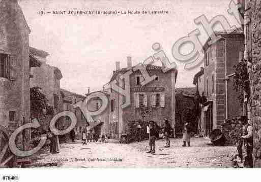 Ville de SAINTJEURED\'AY Carte postale ancienne