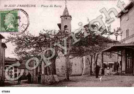 Ville de SAINTJUSTD\'ARDECHE Carte postale ancienne