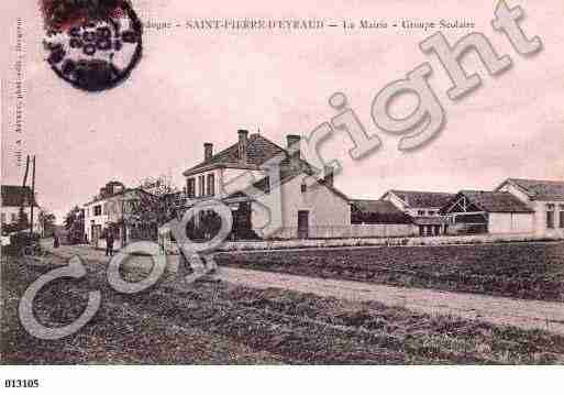 Ville de SAINTPIERRED'EYRAUD Carte postale ancienne