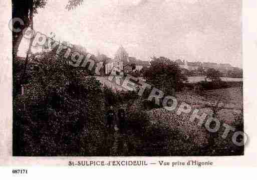 Ville de SAINTSULPICED\'EXCIDEUIL Carte postale ancienne