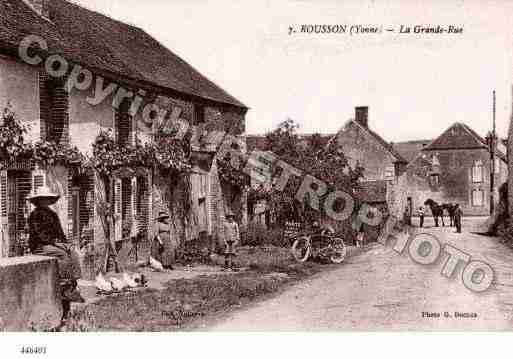 Ville de ROUSSON Carte postale ancienne