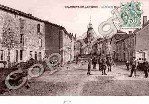 Ville de BEAUMONTENARGONNE Carte postale ancienne
