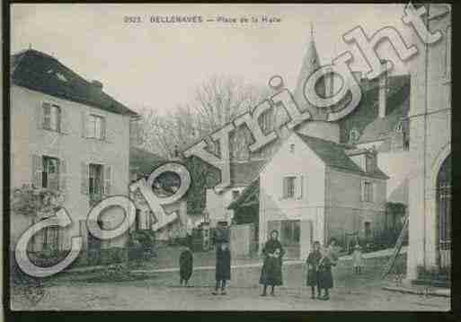 Ville de BELLENAVES Carte postale ancienne