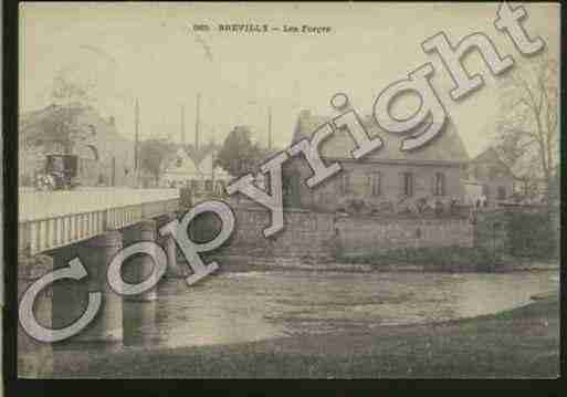 Ville de BREVILLY Carte postale ancienne