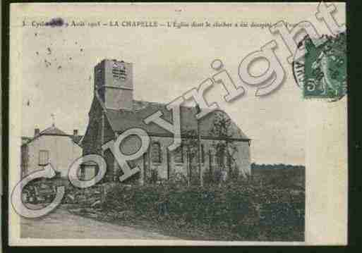 Ville de CHAPELLE(LA) Carte postale ancienne