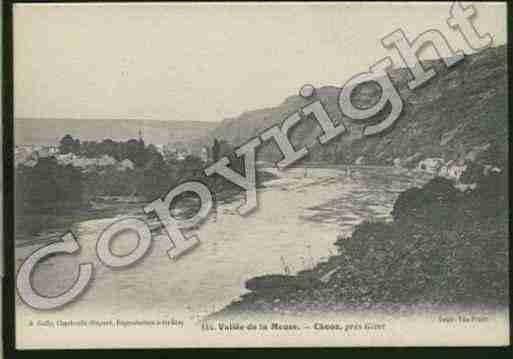 Ville de CHOOZ Carte postale ancienne