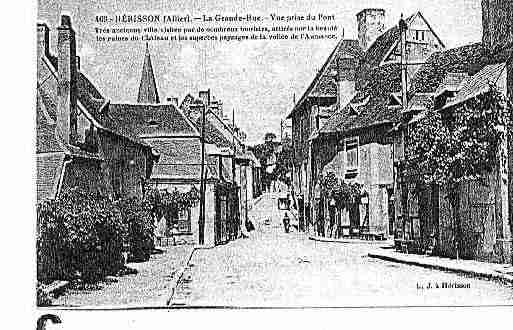 Ville de HERISSON Carte postale ancienne