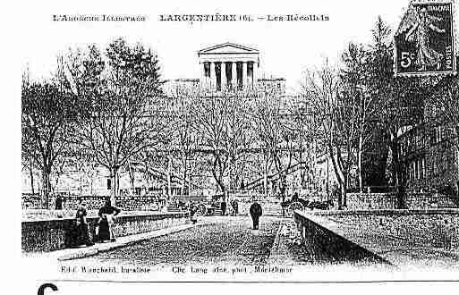Ville de LARGENTIERE Carte postale ancienne