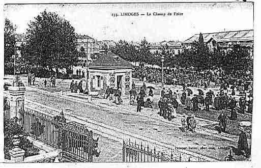 Carte postale ancienne de la ville de limoges ph011662 g for Haute vienne carte