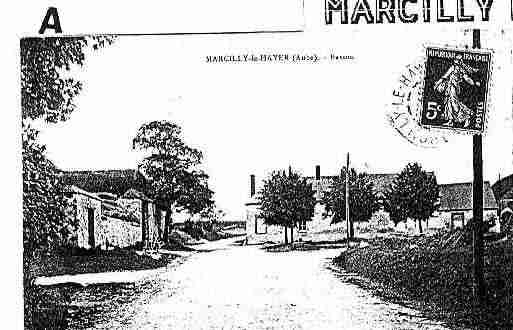 Ville de MARCILLYLEHAYER Carte postale ancienne