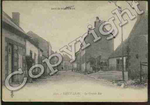 Ville de SAINTLEON Carte postale ancienne