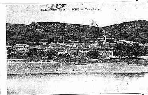 Ville de SAINTMARTIND\'ARDECHE Carte postale ancienne