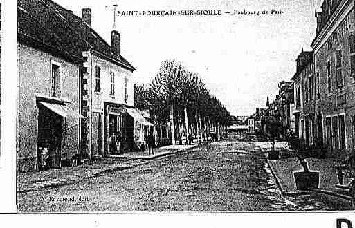 Ville de SAINTPOURCAINSURSIOULE Carte postale ancienne