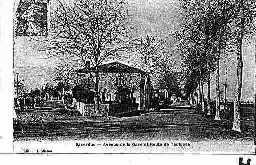 Ville de SAVERDUN Carte postale ancienne