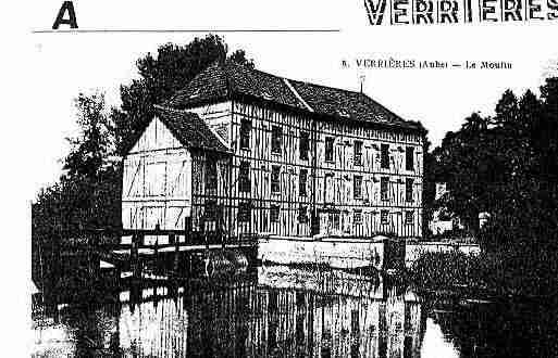 Ville de VERRIERES Carte postale ancienne