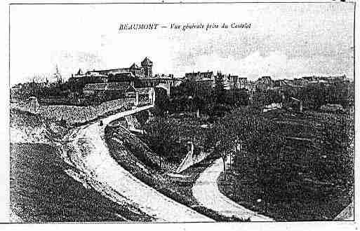 Ville de BEAUMONT Carte postale ancienne