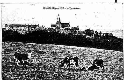 Ville de BEAUMONTENAUGE Carte postale ancienne