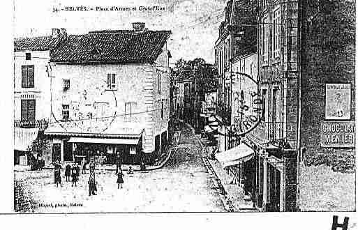 Ville de BELVES Carte postale ancienne