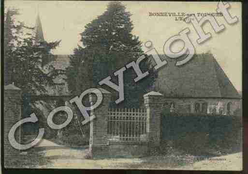 Ville de BONNEVILLESURTOUQUES Carte postale ancienne