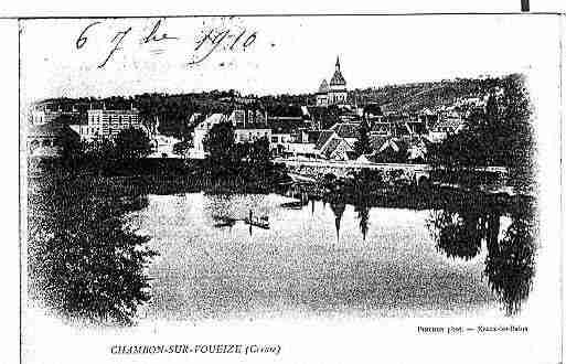 Ville de CHAMBONSURVOUEIZE Carte postale ancienne
