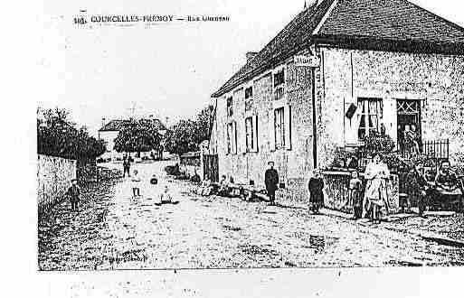 Ville de COURCELLESLESMONTBARD Carte postale ancienne