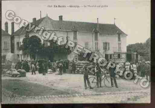 Ville de GRACAY Carte postale ancienne
