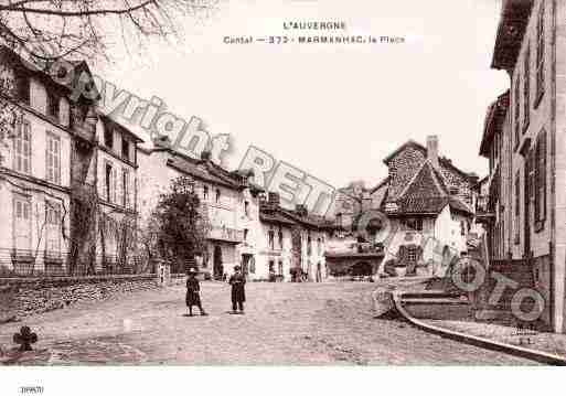 Ville de MARMANHAC Carte postale ancienne